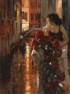 Venice and Roses, Richard S. Johnson