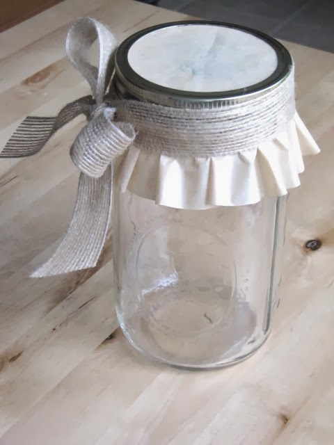 canning jar cover with cupcake liner