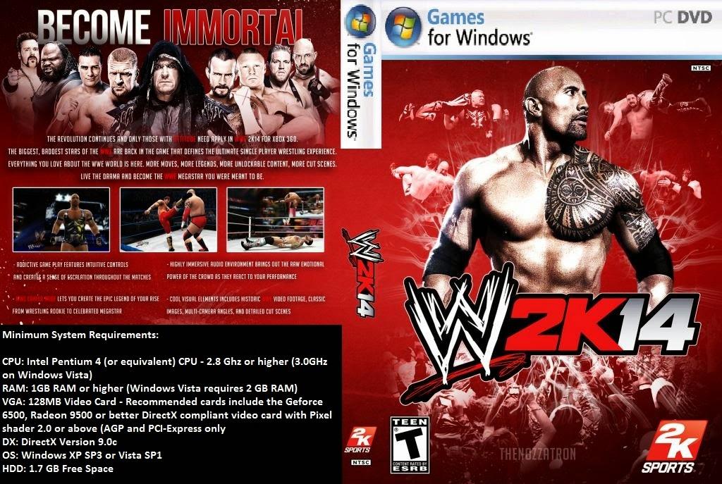 Jogo WWE 2K14 PC DVD Capa