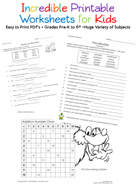 Printable Worksheets for Kids, Utah Deal Diva
