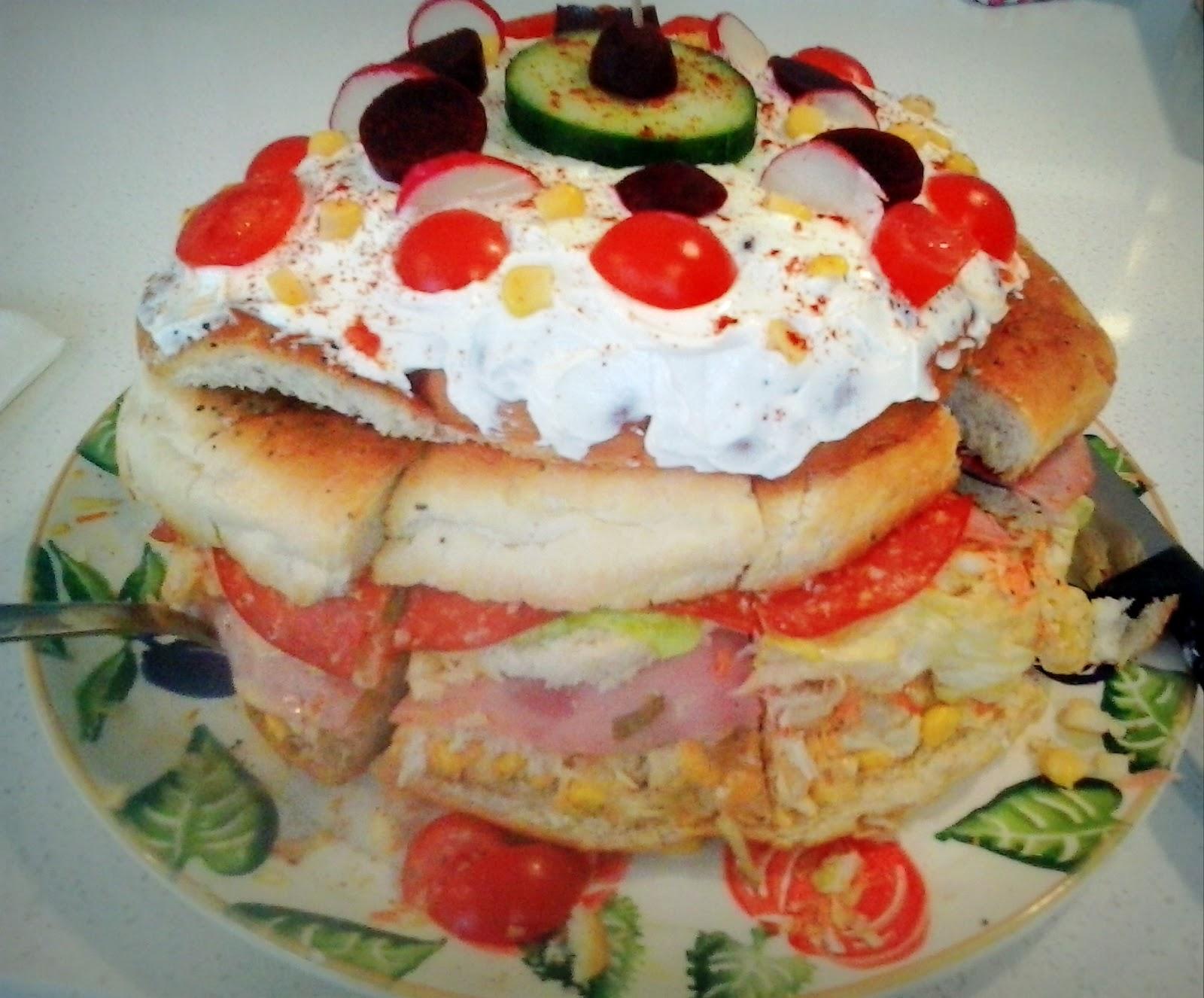 How To Make A Gaint Swedish Sandwich Cake
