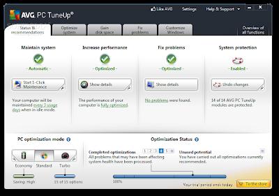 برنامج Tuneup 2013 لصيانة الجهاز