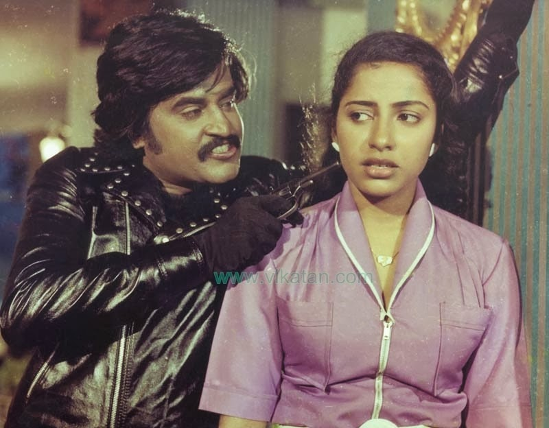 Rajinikanth & Suhasini in 'Thaai Veedu' (1983) Tamil Movie
