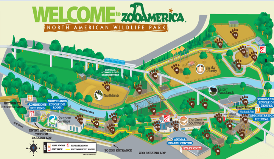 Zoo Tails ZooAmerica Trip Report And Review - Houston zoo map
