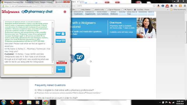 Online Pharmacy Chat #WalgreensAnswers
