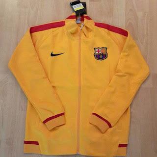 gambar desain terbaru jaket Barca away warna kuning musim depan gambar foto photo kamera Jaket Barcelona away warna kuning terbaru musim 2015/2016 di enkosa sport toko online terpercaya di jakarta pasar tanah abang