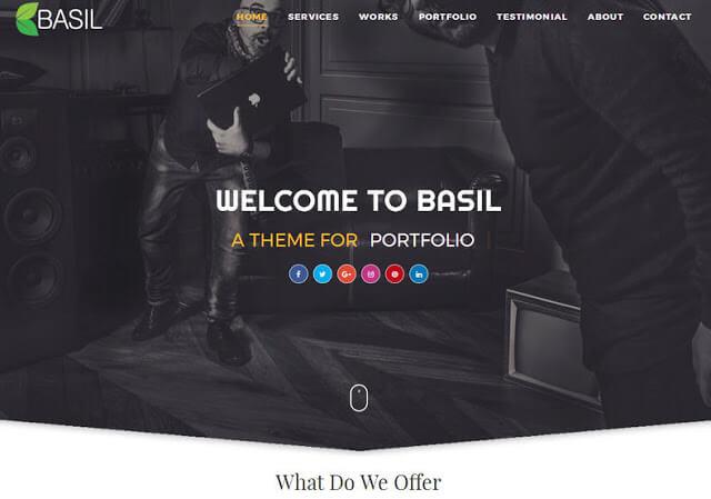 Basil Portfolio Blogger Template