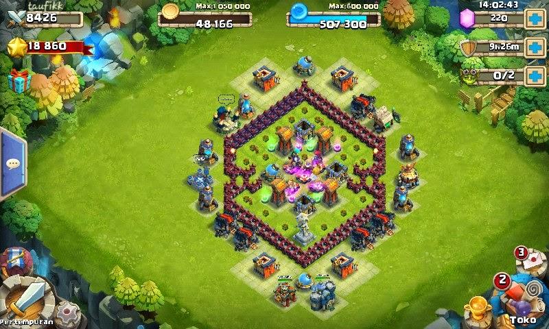 Kumpulan Base Castle Clash / Konflik Kastil Terkuat Untuk HBM bentuk ketupat