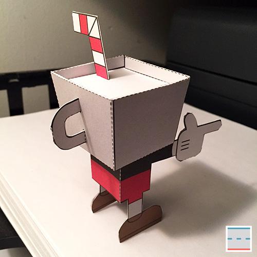 Cuphead Studio Mdhr Paper Foldables Blog