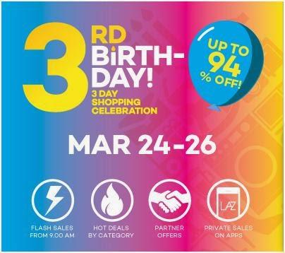 Lazada 3rd Birthday Sale | Diskaun sehingga 94%