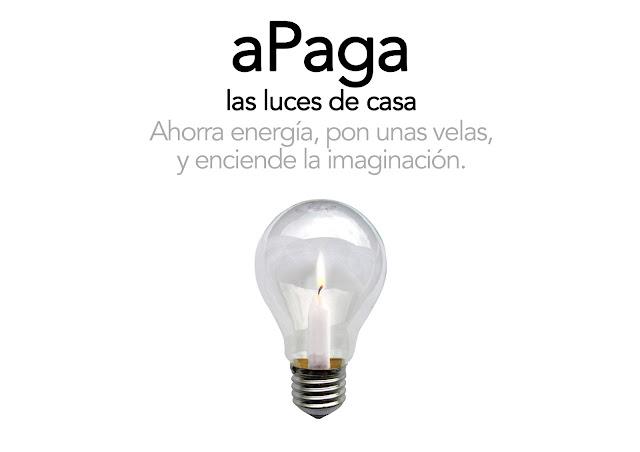 Apaga las luces de casa, ahorra energía, pon unas velas y enciende la imaginación