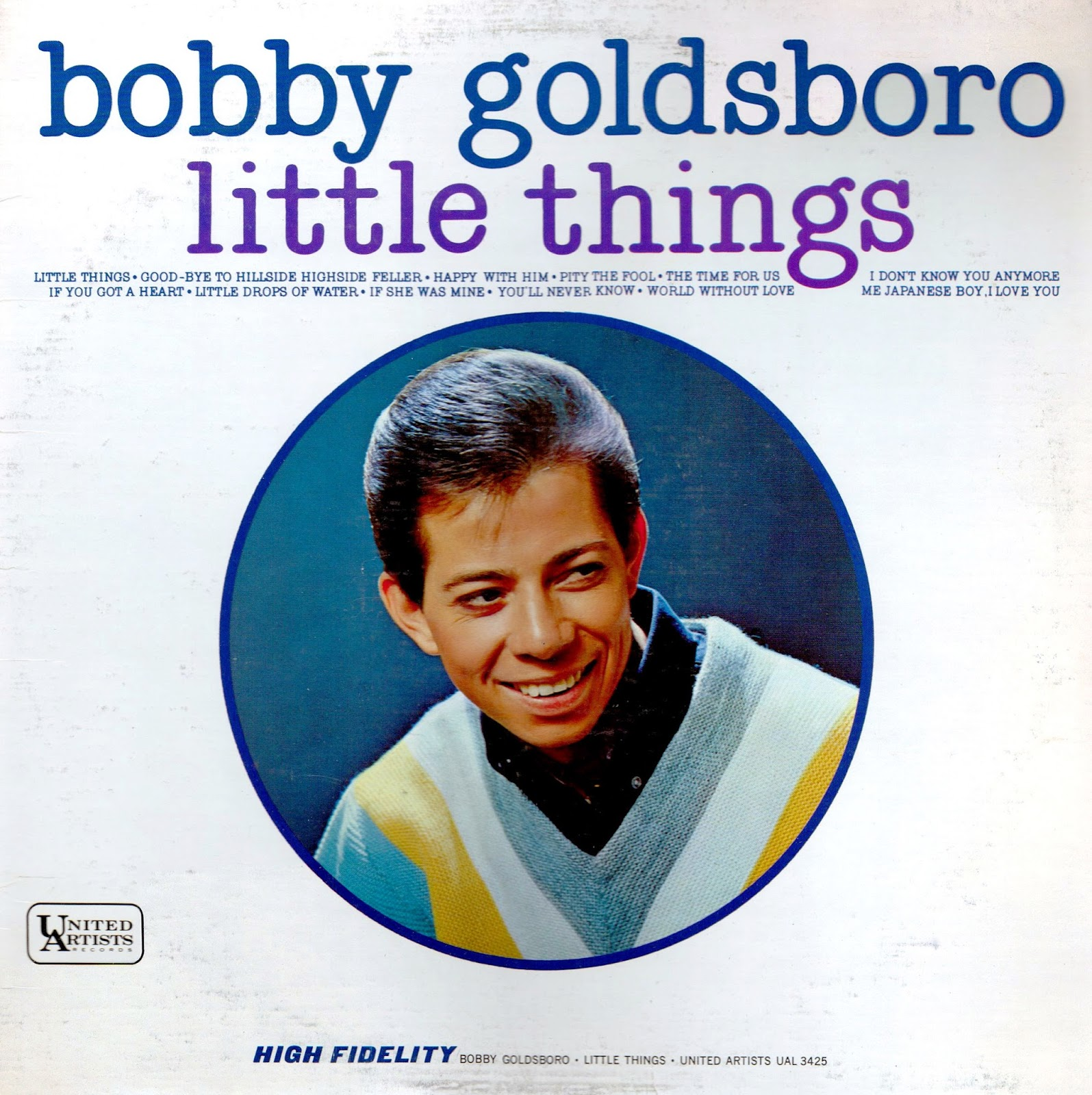 Vinyl Shipwreck Bobby Goldsboro Little Things Mono 1965