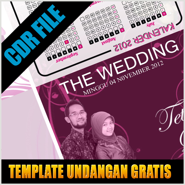 template undangan pernikahan corel download tutorial gratis