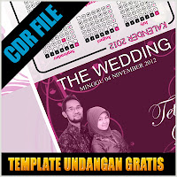 Download Download Gratis Undangan Nikah Format CorelDRAW X3, CorelDRAW