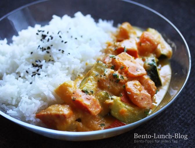 Bento Lunch Blog Rezept Kürbis Zucchini In Fruchtig Cremiger