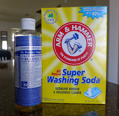 Ingredients for DIY dishwashing detergent