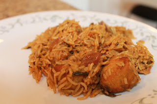 Fish biriyani in south indian style