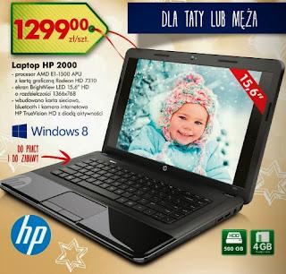 Laptop HP 2000 z Biedronki