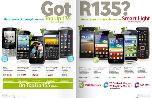 Mtn cellphone combo deals