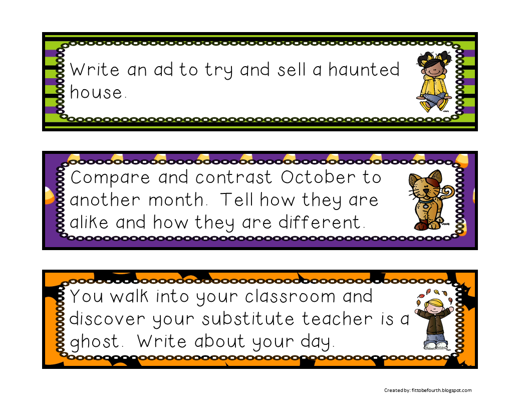http://www.teacherspayteachers.com/Product/Writing-Prompts-for-October-1395379