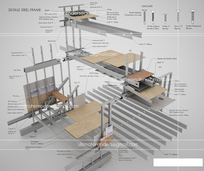 Detalle General Steel Frame 3d Encuentros