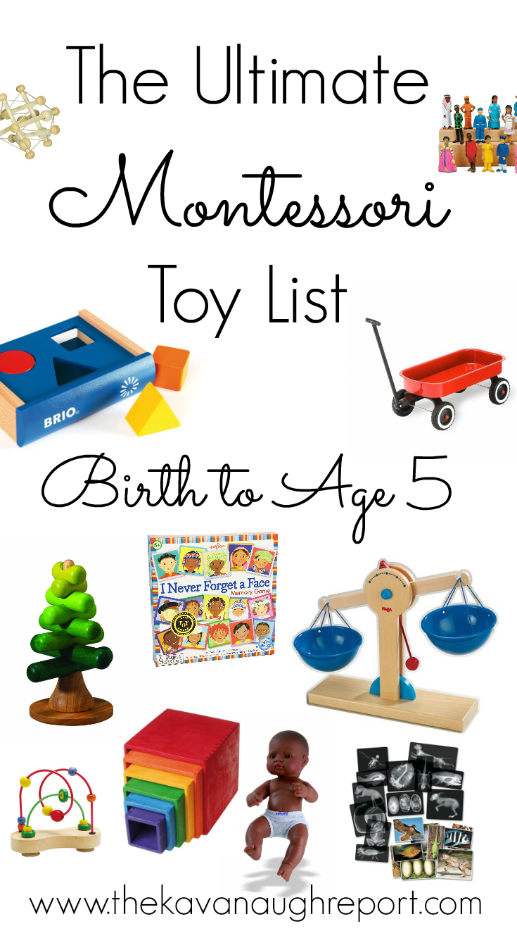 Toys For Preschoolers And Kindergarteners 3 5 : The ultimate montessori toy list birth to five