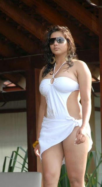 Namitha in White Bikini Hot Photos