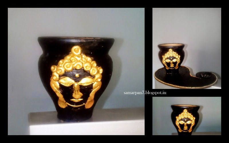 The Whole Buddha Is Done With M Seal ShilpkarAfter Clay Dried Up I Painted It Acrylic Pearl Metallic Gold