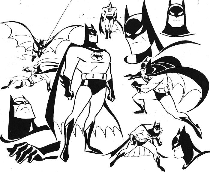 Cartoon Character Design Concept : Cartoon concept design batman the animated series art