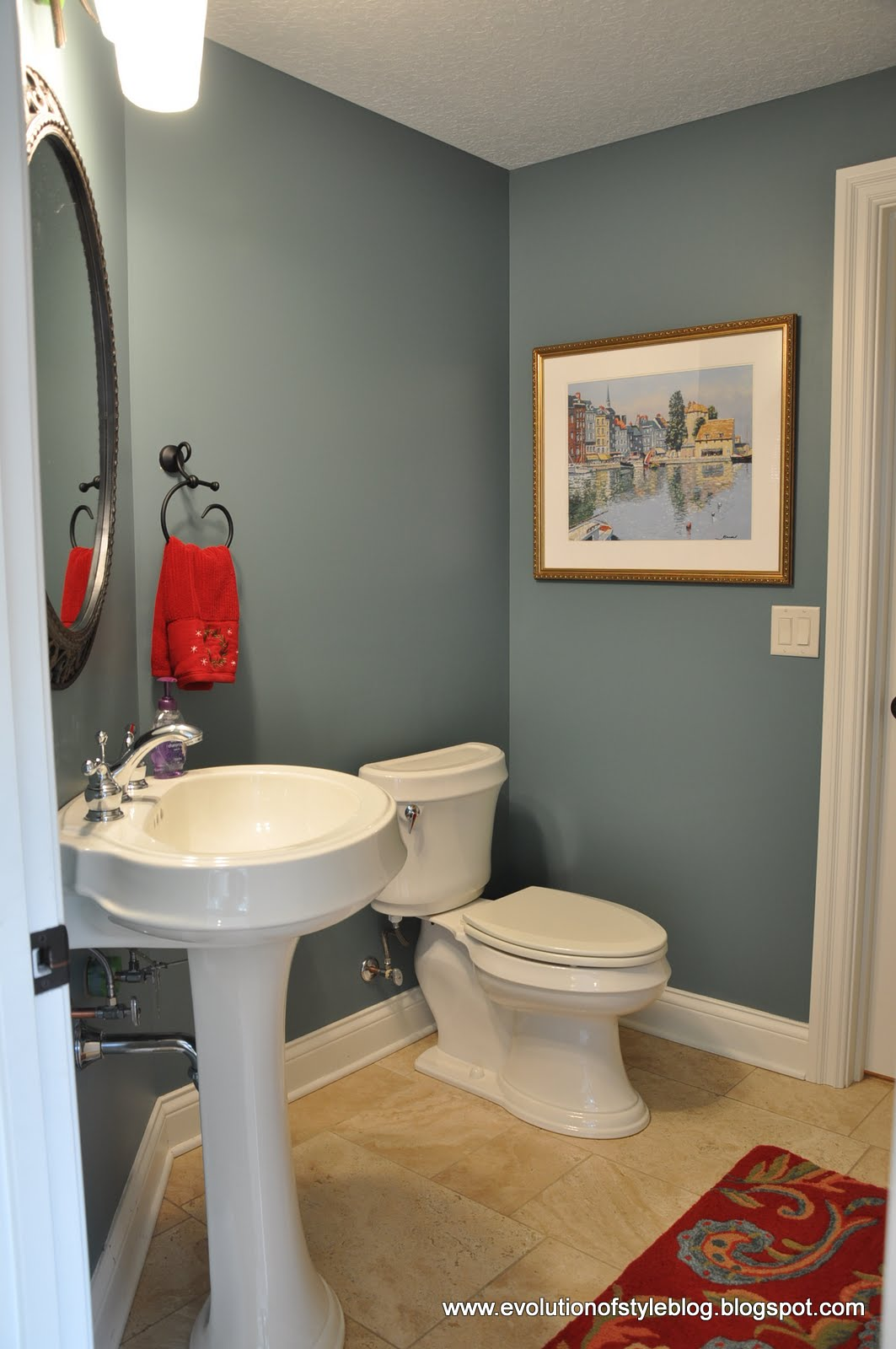 Powder room paint colors native home garden design for Powder blue bathroom ideas
