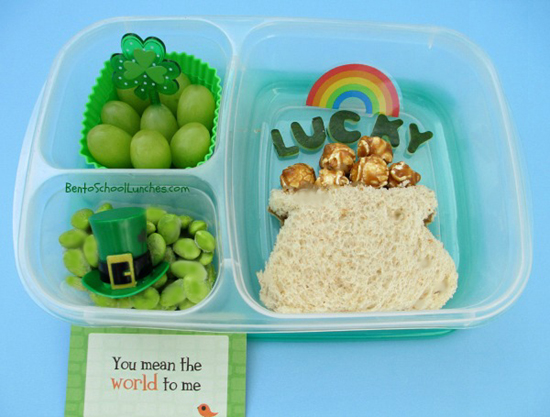 St.Patrick's Day, Pot of Gold bento lunch