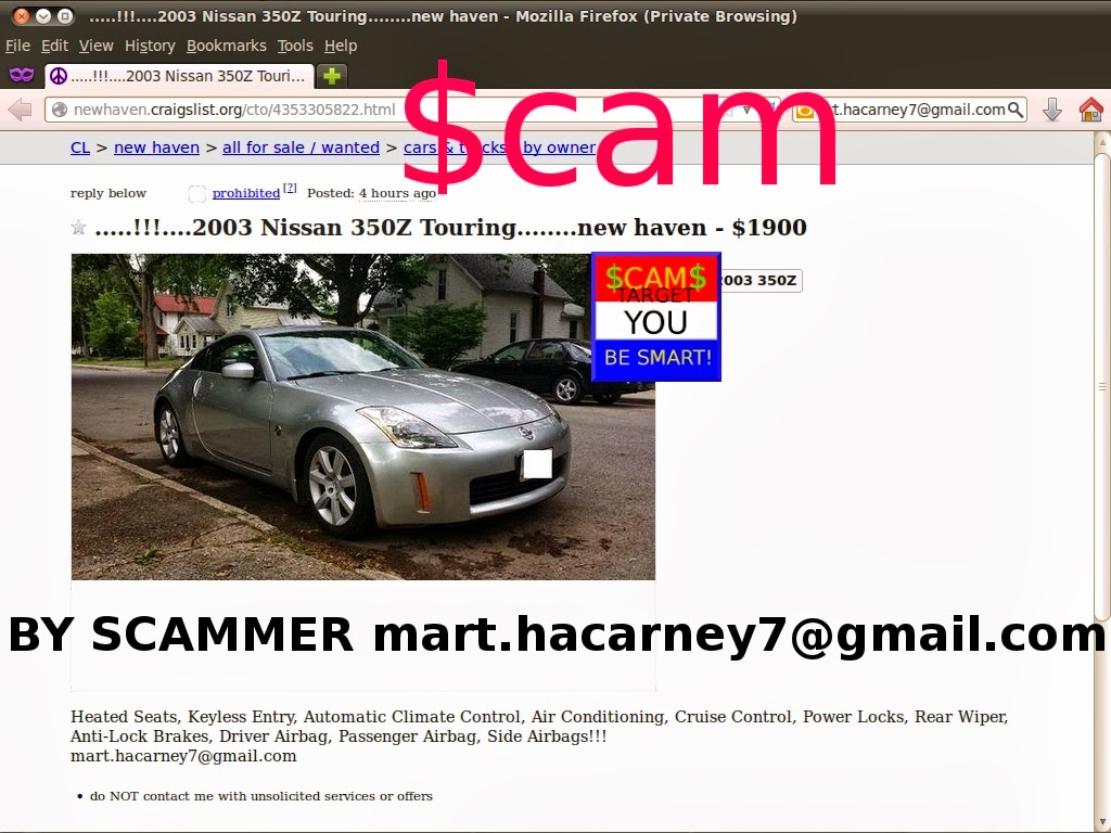 CRAIGSLIST SCAM ADS DETECTED 02/27/2014 - Update 2 | Vehicle Scams ...