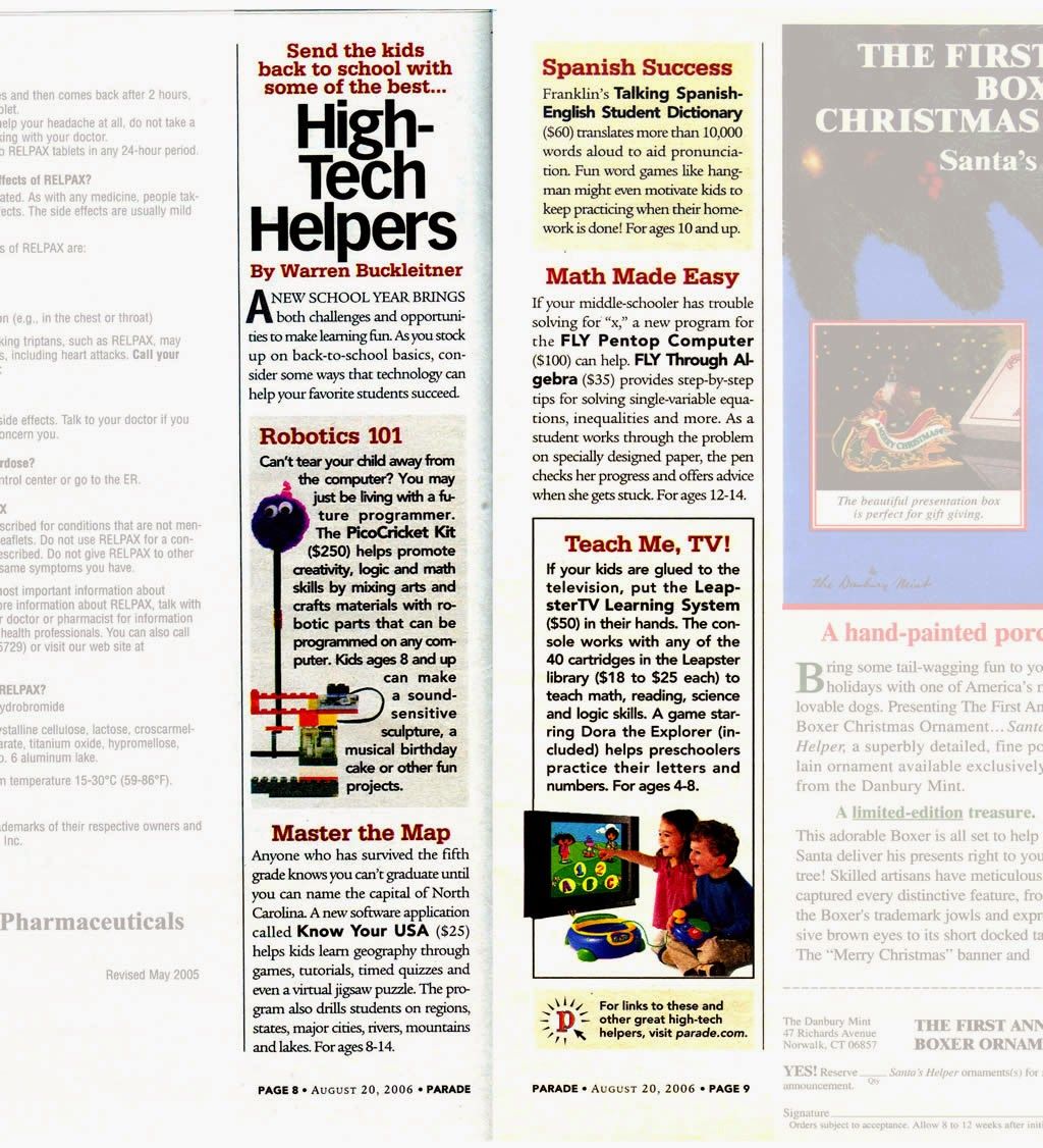 EdWare in Parade Magazine Aug 2006 - Know Your USA