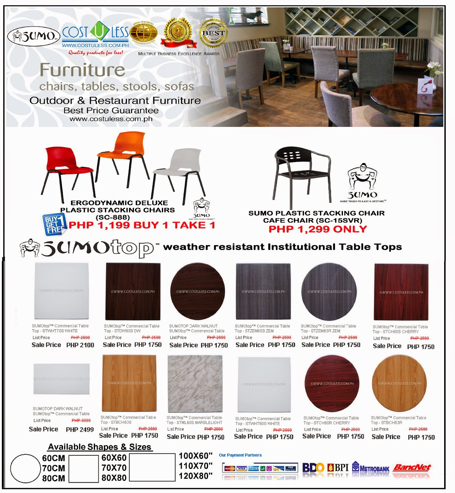 Special Discount On Restaurant Chairs U0026 Tables
