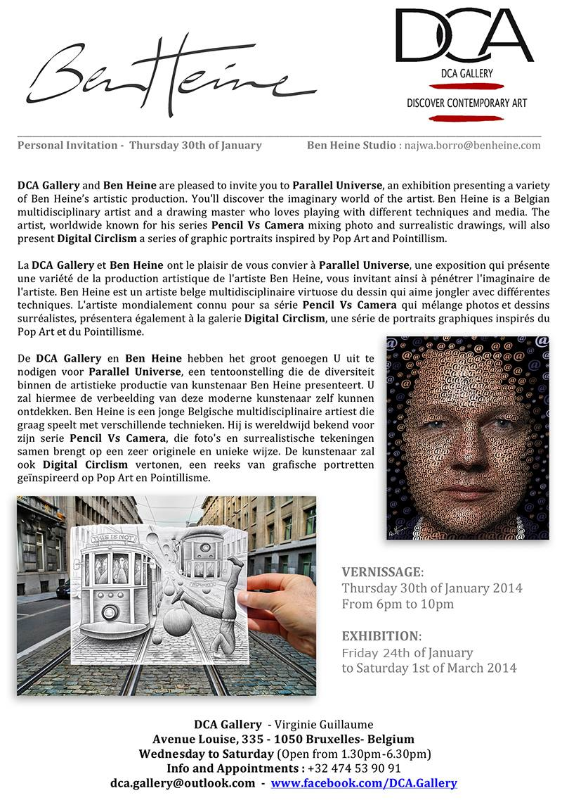 Exhibition Invitation - Ben Heine Art - DCA Gallery