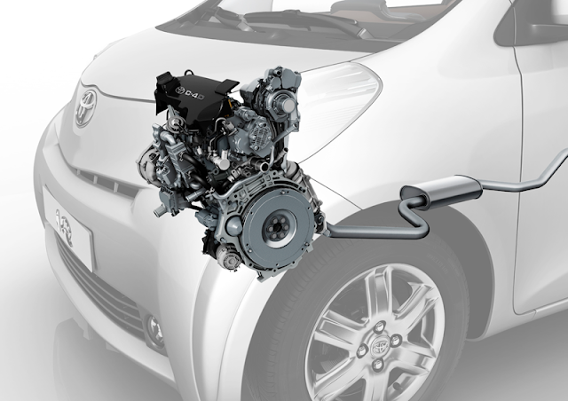 D4D diesel engine in a Toyota iQ