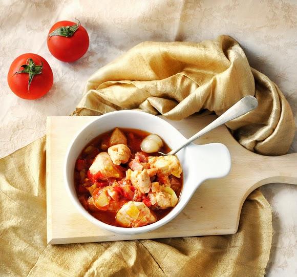 Hot chicken stew