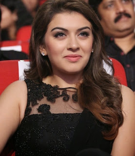 Actress Hansika Motwani Latest Pictures in Black Dress at Power Movie Audio Launch  10