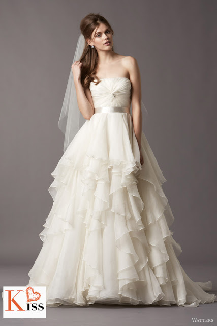 Watters 2013 Spring Organza Wedding Dresses
