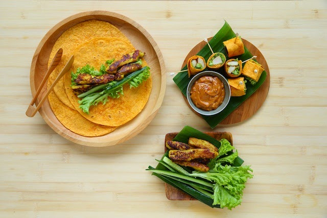 Resepi Sate Ayam Bersama Sos Kacang Pedas Mission Curry Wraps