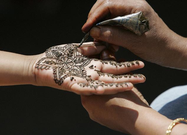 Etiquetas hand henna Star tattoos