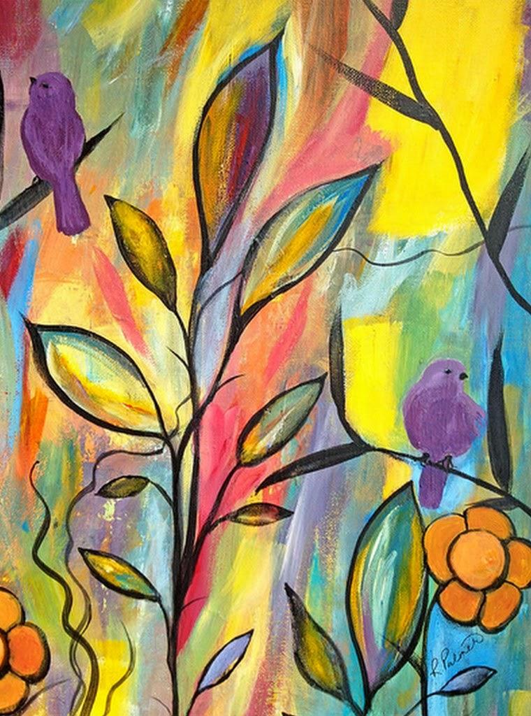 Cuadros modernos pinturas y dibujos pinturas sencillas for Imagenes de cuadros abstractos faciles de hacer