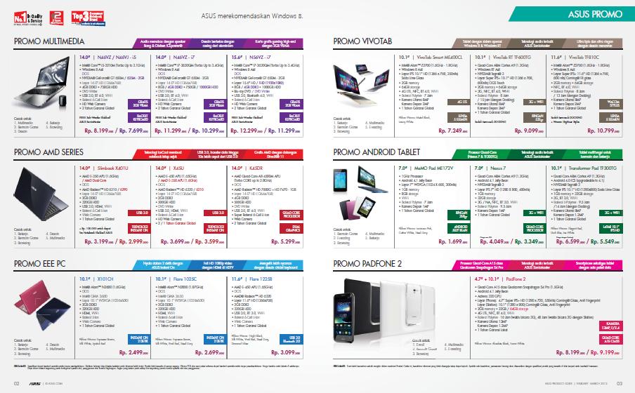 Harga Tablet Asus Terbaru Lengkap Update April 2014 - HD Wallpapers