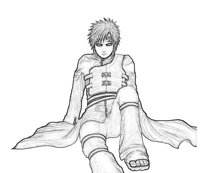 gaara coloring pages - photo#20