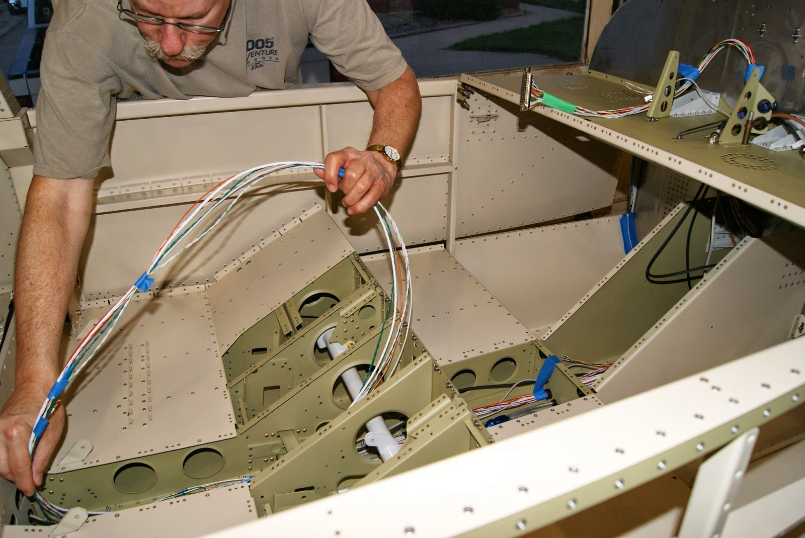 Dog Aviation Johns Rv 12 Blog Installation Of Wh 00046 Wire Harness Grommet The Cable Forward F 1203a Bulkhead Is In Final Position Working Further Aft Slowly But Surely