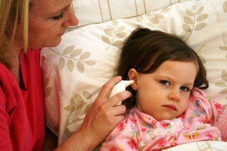 Menggunakan termometer telinga
