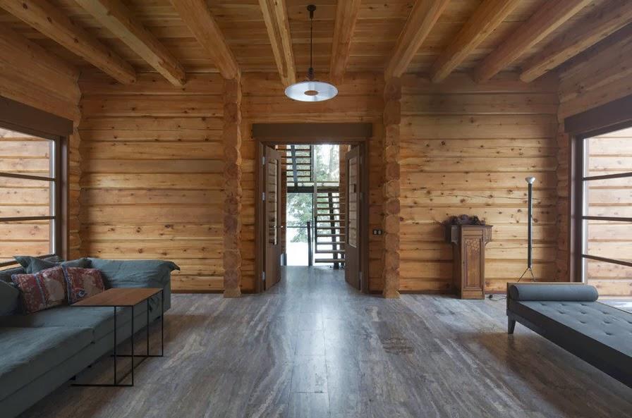 Dise o de casa de madera de tres pisos m s planos fachada for Disenos de pisos para interiores