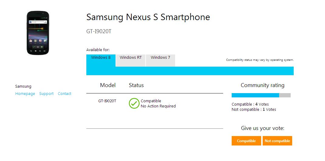 nexus windows 8
