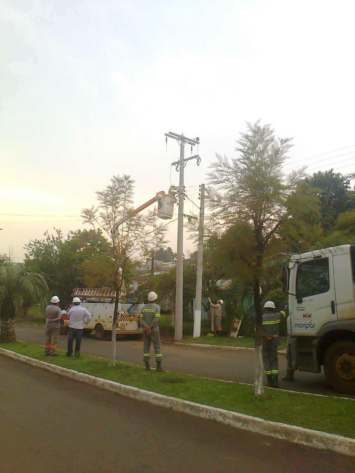 Implantação de postes