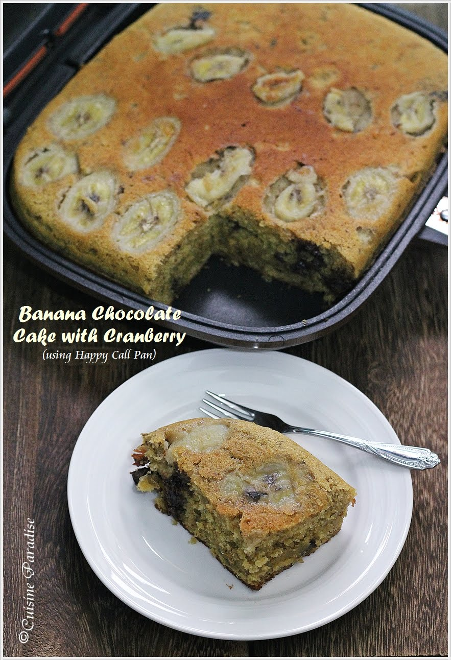 Cuisine paradise singapore food blog recipes reviews and travel banana chocolate cake with cranberry forumfinder Choice Image